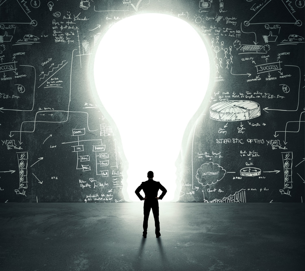 Self Improvement Lightbulb door