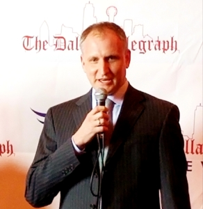 Alex speaker at a The Dallas Telegraph event